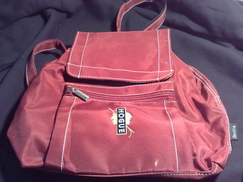 Red Houge Wine Mini Backpack