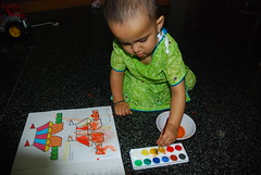 Marziya Learns to Paint by firoze shakir photographerno1