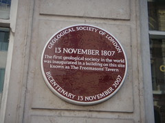 Photo of Geological Society of London purple plaque