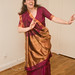 Small photo of Phyllis shows off her sari