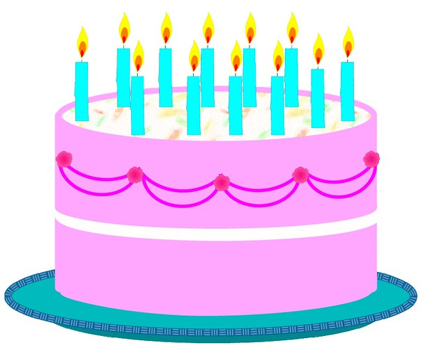 Birthday cake 2 clipart sketch lge 14cm This clipart ...