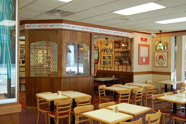Old Fashion Resturant Background