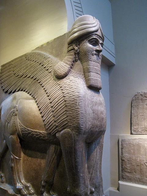 assyrian statue british museum flickr photo sharing