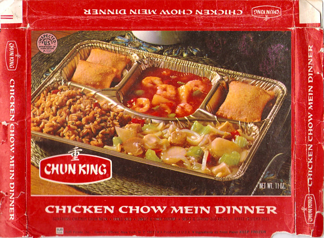 1970's Chun King Chicken Chow Mein Frozen Dinner Box