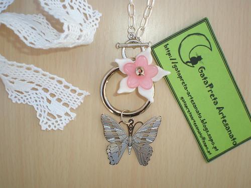 """Armario Escritorio Plegable ~ Colar""""Pretty Butterfly"""" da Colecç u00e3o Vintage GataPreta Artesanato"""