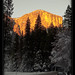 El Capitan in winter, Yosemite