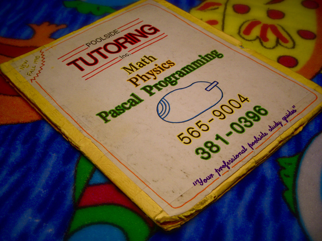 1990 Poolside Tutoring Flyer