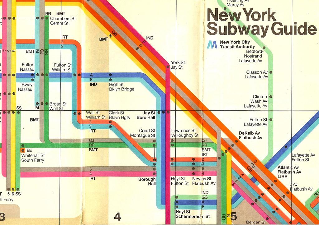 New York Subway map, 1970s   In 1972 the Italian designer Ma…   Flickr