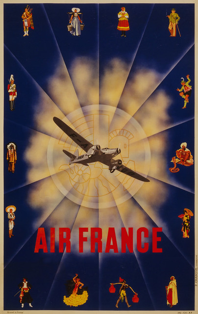 Air France travel poster, ca. 1940  Flickr - Photo Sharing!