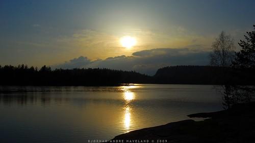 light sunset sky lake slr clouds landscape nikon merkedammen d40x