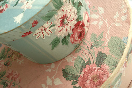 Vintage Wallpaper Hatboxes