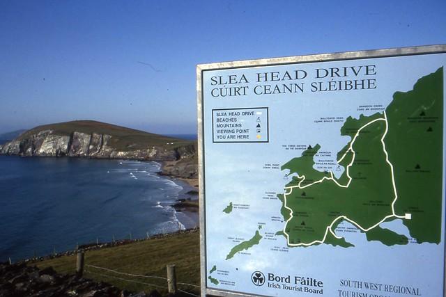 bord failte kerry ~ slea head drive, map cokerry, oct 1992  flickr  photo