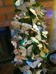 Punched Tin Butterflies massing on my Seasonal Tree