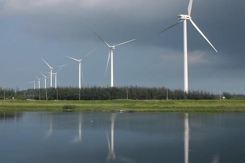 線西風機,圖片來自彰化海岸保育行動聯盟