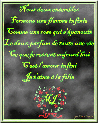 Poeme d 39 amour flickr photo sharing - Poeme d amour a imprimer ...