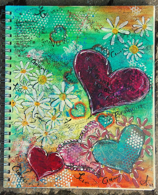 Art journal cover flickr photo sharing for Journal painting ideas