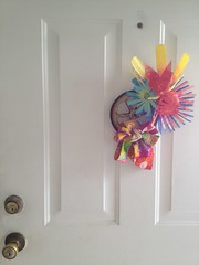 front door wreath for spring!