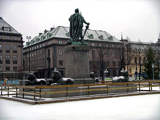 Statue in Kungstradgarden, Stockholm