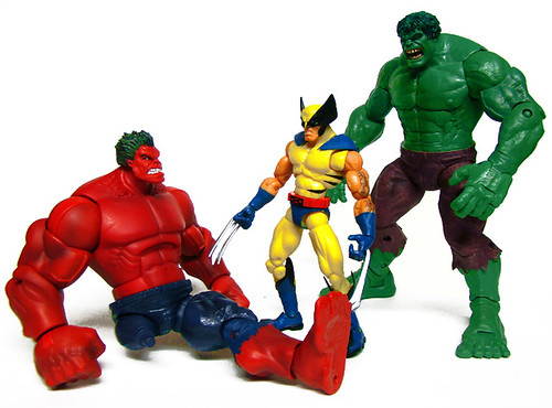 Red Hulk, Wolverine and Hulk