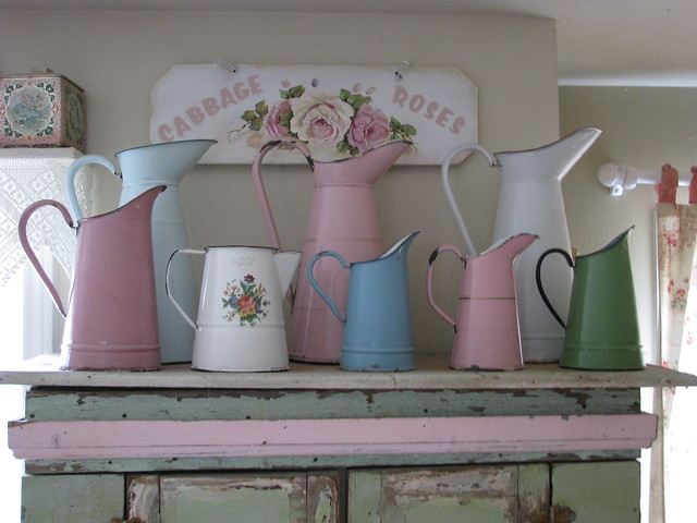 French enamel pitchers