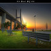 Lisboa - Sunrise on Vasco da Gama Bridge :: HDR