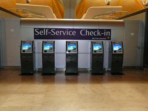 Auto check-in British Airwais T4 Aeropuerto de Madrid