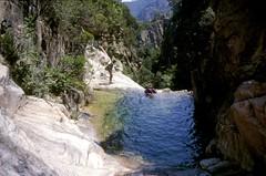 Canyon de Petra Pinzuta (Conca) : la vasque de départ du rappel