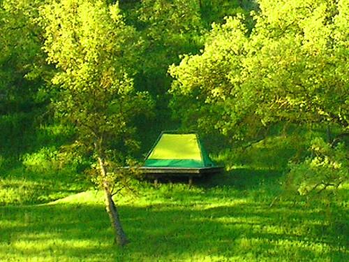 Camp site at Wilbur Hot Springs