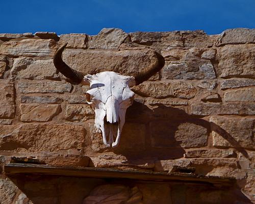 arizona southwest building skull buffalo sandstone nps az doorway ganado hubbell lintel tradingpost navajonation