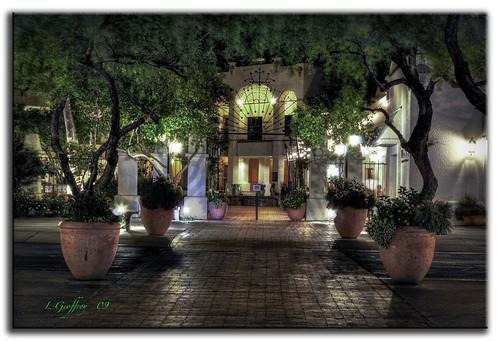 light arizona southwest architecture photoshop buildings lights cafe nightshot tucson sony lightning hdr cs4 photomatix tonemapping tonemap colorefex hdrpool dslra350 dslr350 sonydslra350 lgeof