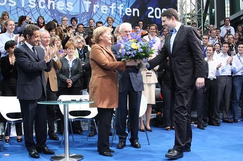 Nicolas Sarkozy, Angela Merkel, Hans-Gert Pöttering, Philipp Mißfelder