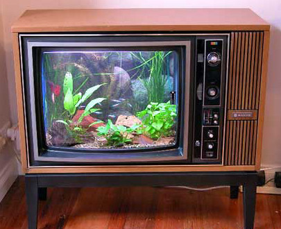 Really rocket science blog archive diy friday recycle for Floor model tv