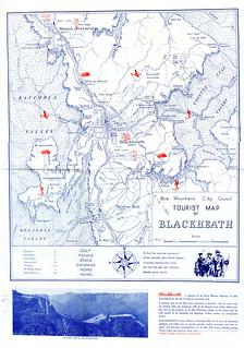 Tourist Map of Blackheath, c1950 (verso)