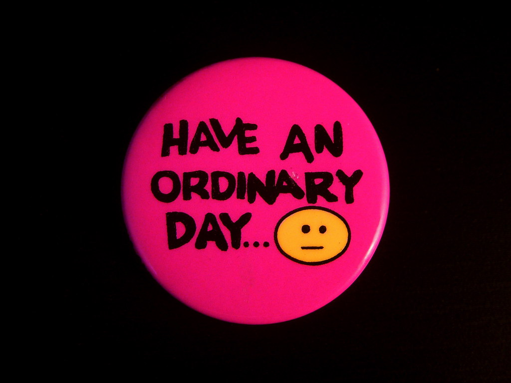 1987 Have An Ordinary Day Pin