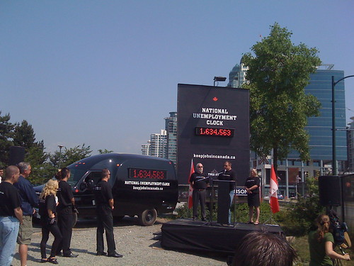 National Unemployment Clock Unveiling | June 10, 2009 by keepjobsincanada