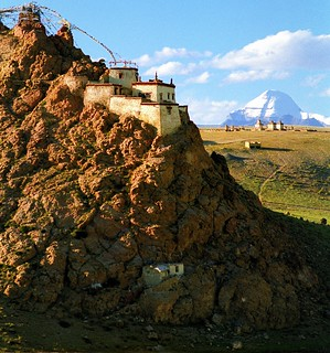 Chiu (Jiu) Gonpa and Gang Rinpoche,Mt. Kailash,གངས་རིན་པོ་ཆེ།