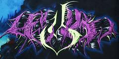 Center St. Wall -  Houston Graffiti Art- Heylow