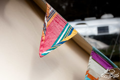 Bunting on a SoulPad Bell Tent