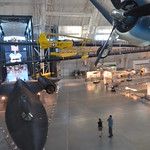 Steven F. Udvar-Hazy Center: main hall panorama (SR-71, Space Shuttle, F-4 Corsair, et al)