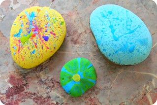 caroline was painting rocks today