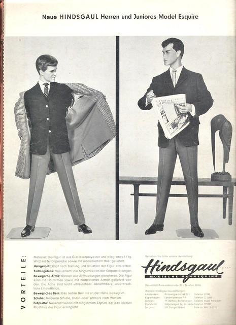hindsgaul mannequin/ broshure 1961