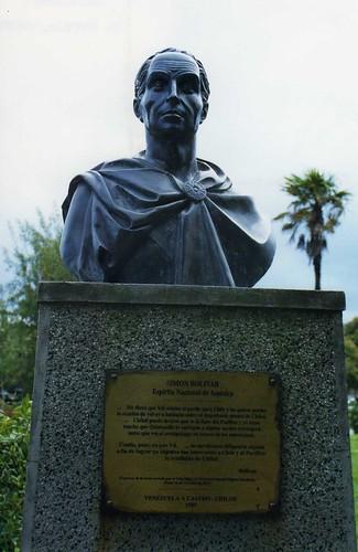 chile statue bolivar castro chiloe simonbolivar isladechiloe chiloeisland loslagosregion