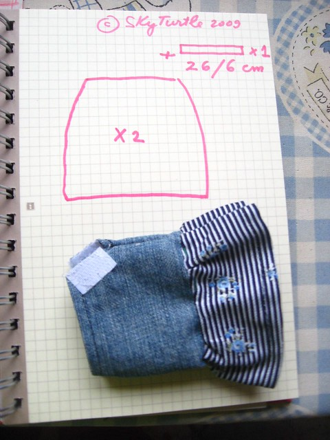 No Pattern Used Jeans skirt from No Pattern Used patterns is a