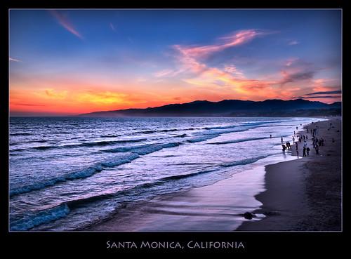 beach california hdr imagenomic landscape losangeles ocean pacific photomatix processing santamonica wave flickrsbest