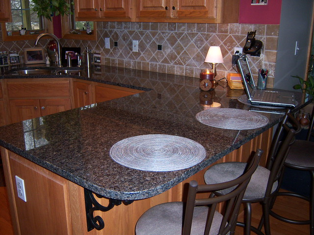 Autumn Brown Granite Kitchen Countertop