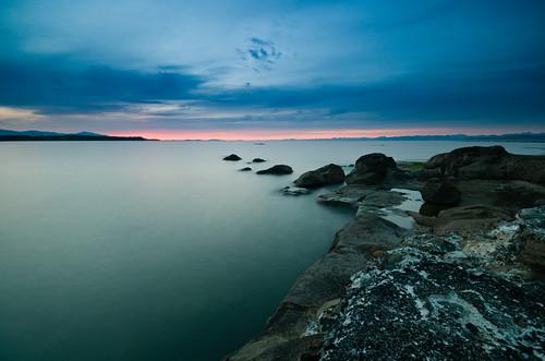 ocean pink blue camping sunset canada green landscape island rocks bc gulf britishcolumbia vancouverisland hornbyisland hornby bryntassellca bryntassell