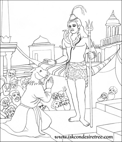 shiva coloring pages - lord shiva face coloring coloring pages