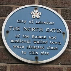 Photo of North Gates, Leicester blue plaque