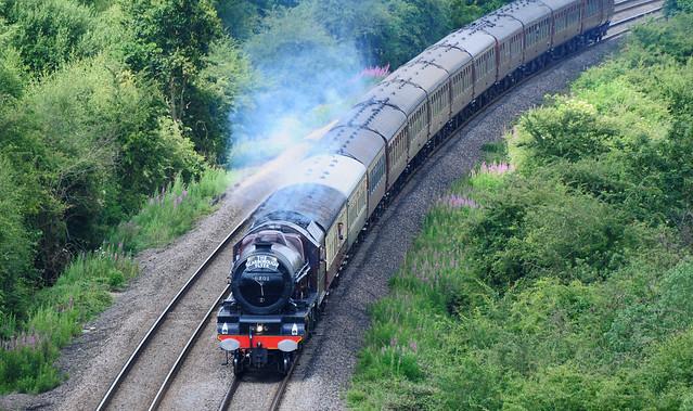 Scarborough Flyer Steam Train at Fairburn, Yorkshire