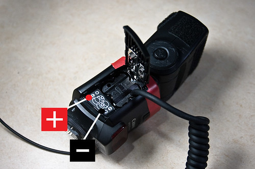 Battery Pack wiring for Canon 430EX Flash